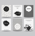 set modern posters with geometrical shapes and vector image vector image