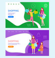 shopping day women and child with bags vector image