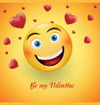 smiling tender face on a yellow background - a vector image