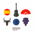 spain icon set vector image
