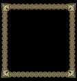 square frame with 3d embossed effect ornate vector image vector image