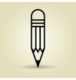 symbol of pencil isolated icon design vector image vector image