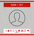 symbol of user icon in circle profile line icon vector image