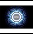 technological abstract modern splash blue light vector image vector image