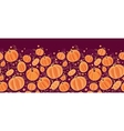 Thanksgiving pumpkins horizontal border seamless vector image