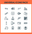 transportation icons set with mobile booking vector image