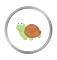 Turtle cartoon icon for web and vector image