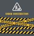 under construction website page with black and vector image vector image