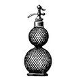 vintage engraving inside a perfume bottle vector image