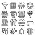 water air and car oil filter related icons set vector image vector image