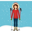 Winter fashion wear and accesories vector image vector image