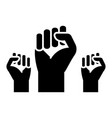 fighting for rights - freedom icon vector image