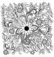 summer doodle flower ornament vector image