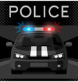 Police car with flash light vector image