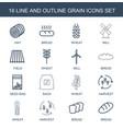 16 grain icons vector image vector image