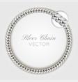 3d realistic silver wrist chain silver vector image