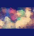abstract polygonal vintage background with vector image vector image