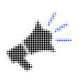 advertising megaphone halftone dotted icon vector image