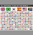 all national flags of the world ratio 4 6 vector image vector image
