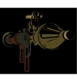 Anti-tank bazooka color rpg on black background vector image