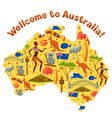 australia map design australian traditional vector image