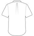 back shirt vector image