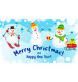 banner merry christmas and happy new year three vector image