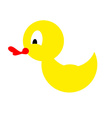 Bathing duck on a white background Yellow rubber vector image