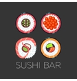 Black sushi bar food logo template vector image vector image