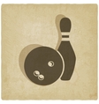 bowling old background vector image vector image