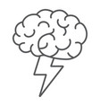 brainstorm thin line icon business and idea vector image vector image