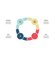 business infographics circle with 4 parts arrows vector image vector image