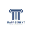 business management logo template design legal vector image