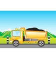 Cargo car on road vector image