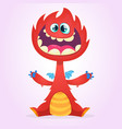 cartoon dragon monster vector image