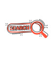 cartoon search bar ui icon in comic style search vector image vector image