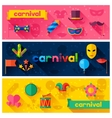 Celebration festive banners with carnival flat vector image vector image