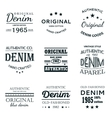 Classical denim jeans typography emblems vector image vector image