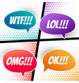comic speech dialog expressions bubble in vector image