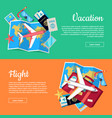 conceptual web banners for travel agency vector image vector image