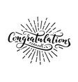 congratulations lettering vector image vector image