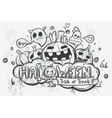 Cute hand-drawn Halloween doodles vector image