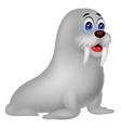 Cute walrus cartoon vector image vector image
