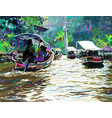 digital painting of thailand river plein air vector image vector image