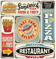 fast food restaurants and diners retro signs vector image vector image