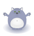 funny fat blue cat vector image