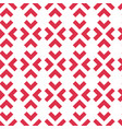 geometric seamless pattern with red arrows vector image