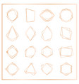 gold segments frames set vector image