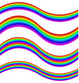 Graphic element set - rainbow striped ribbons vector image vector image