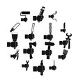 hand tool icons set building simple style vector image vector image